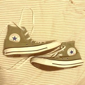 High top converse: olive green